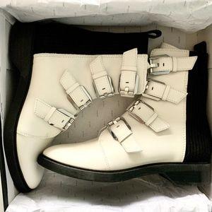 NWT Dolce Vita Gaven Combat Boots off white black